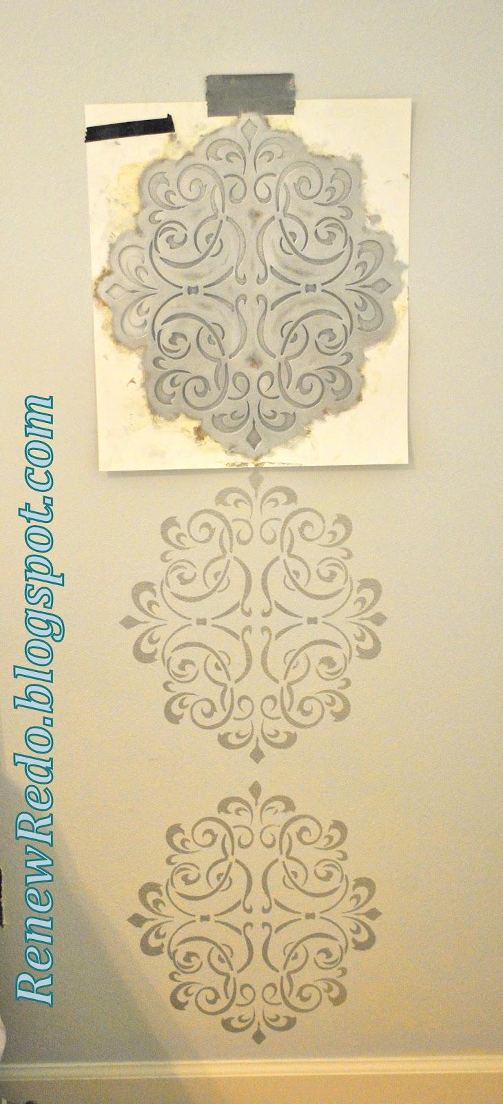 Rub n\' Buff Wall Stencil ~ How To   Home DIY Ideas