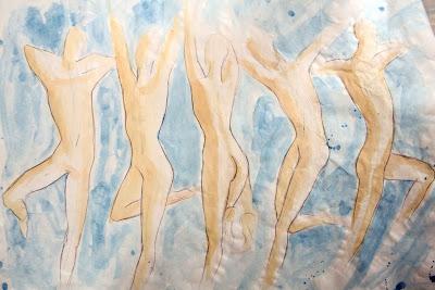 Tanz Bewegung laviert Aquarell Dynamik