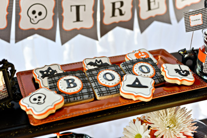 Halloween Cookies by Tickled Pink Cookie Boutique