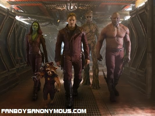 Chris Pratt, Zoe Saldana, Bradley Cooper, Dave Bautista and Vin Diesel are Marvel's Guardians of the Galaxy