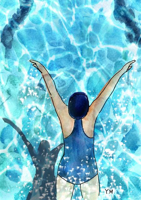 swimming by Yukié Matsushita