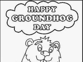 Free Printable Groundhog Day Coloring Sheets
