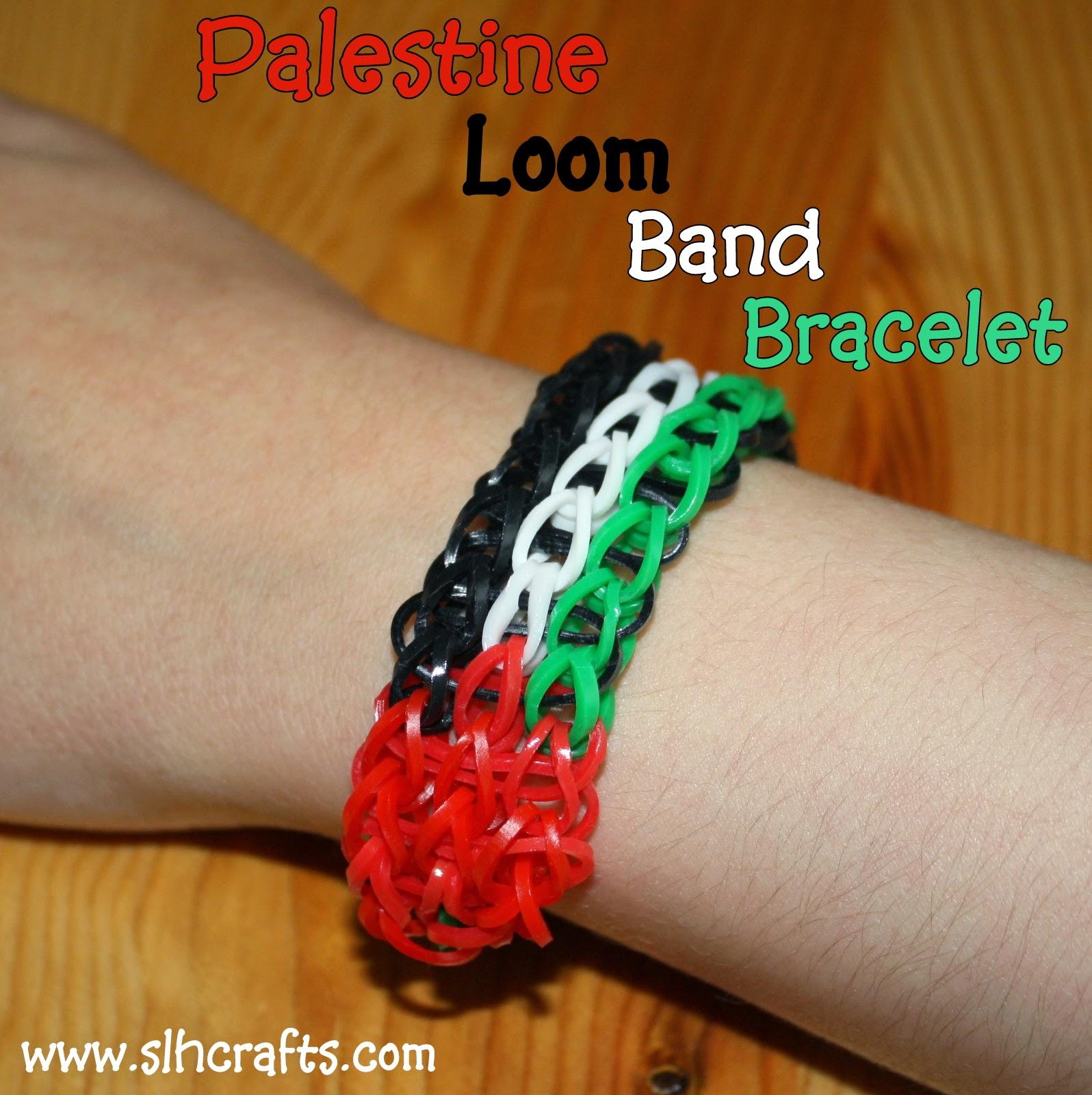 palestine loom band bracelet