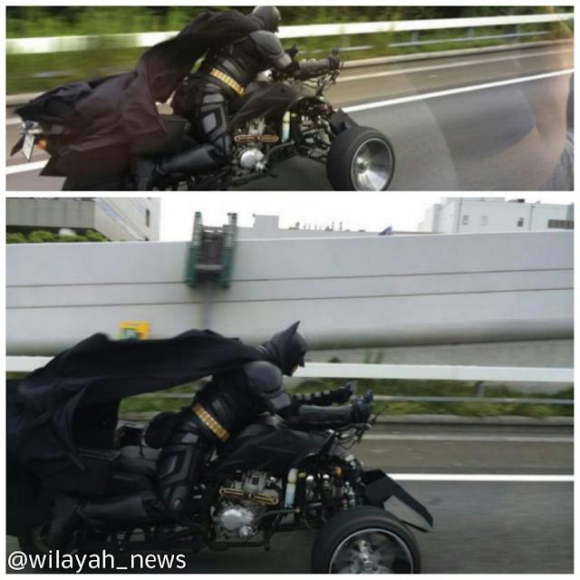 BATMAN Dikesan Menunggang Motor