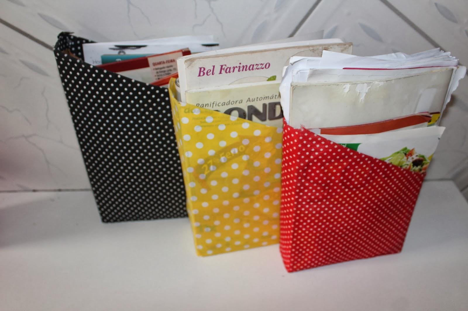 organizando caderno de receitas e inspirações