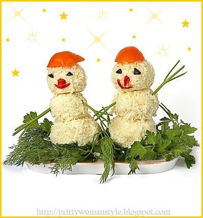 Снежни човечета от сирене