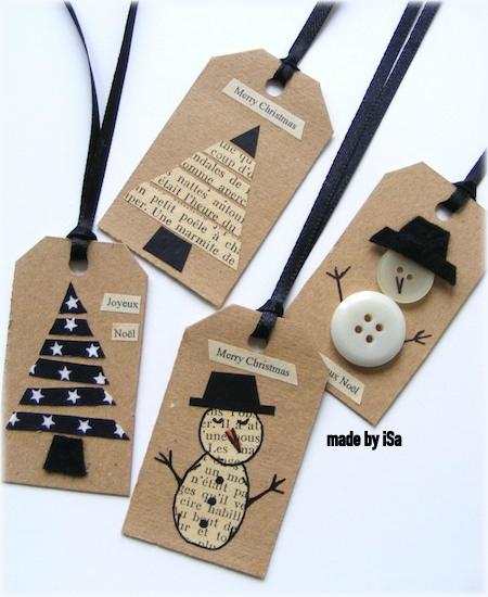 7 ideas de packaging navideño: etiquetas | http://bizcochosysancochos.blogspot.com/