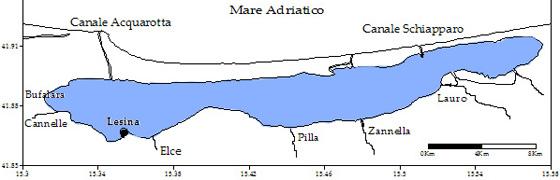 Garganistan Gargano Cartina Laguna di Lesina