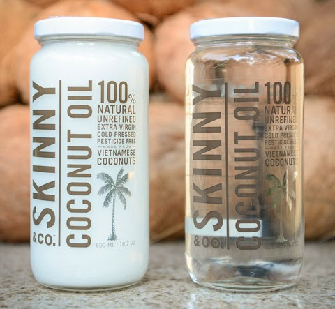 Skinny & Co. Coconut Oil in Sold and Melted Forms