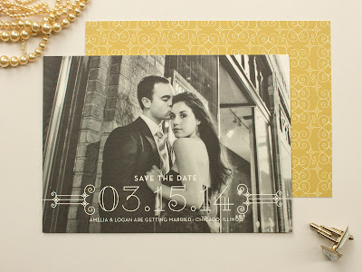 1920s save the date, art deco wedding, photo save the date, 1920s wedding