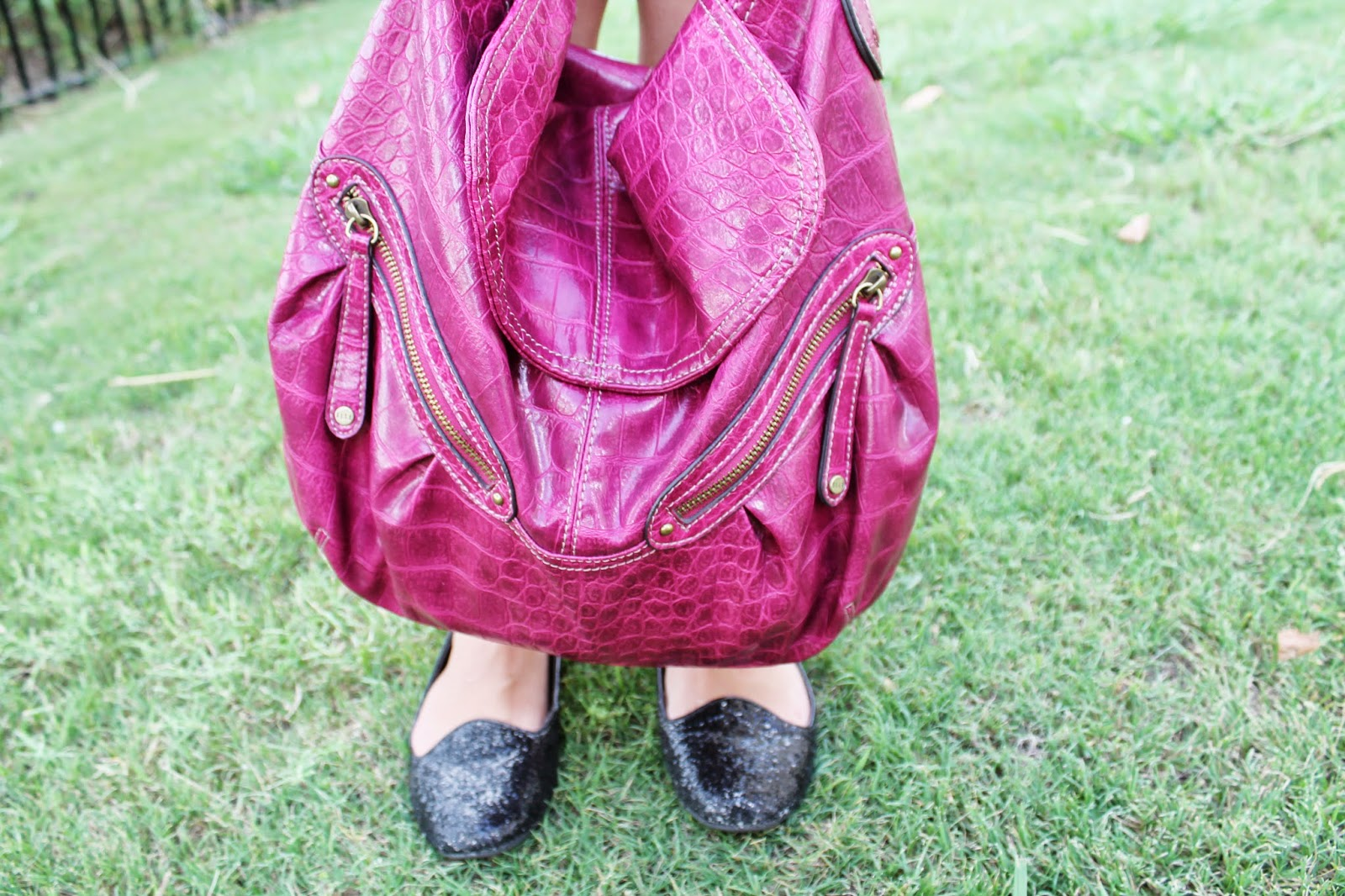 nm fashion blogger- elle bag and wet seal shoes