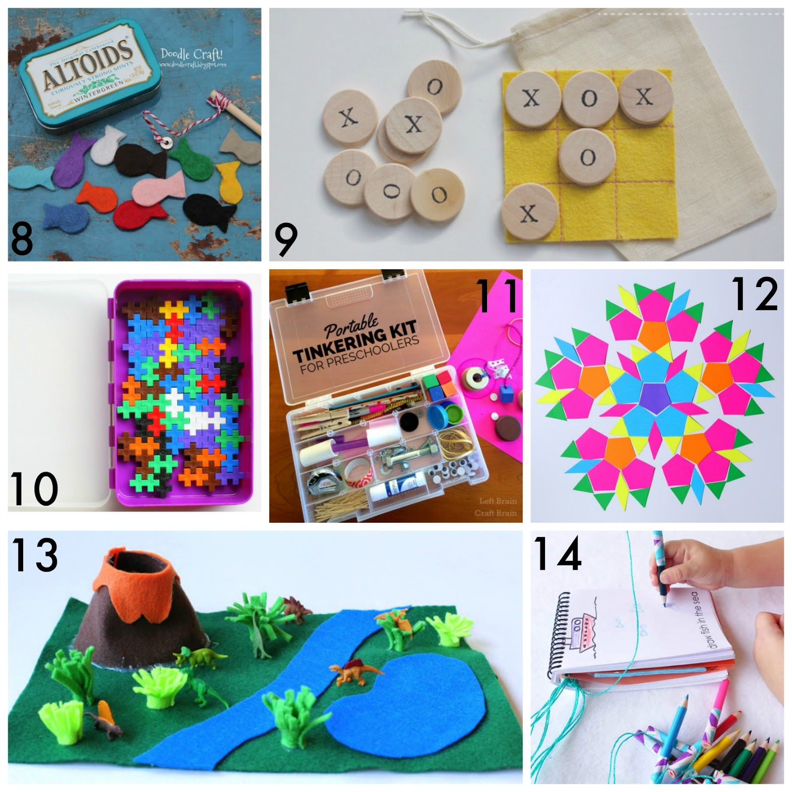Craft kits for preschoolers - 30 Simple And Easy Diy Travel Kits For Kids Great For Vacations Road