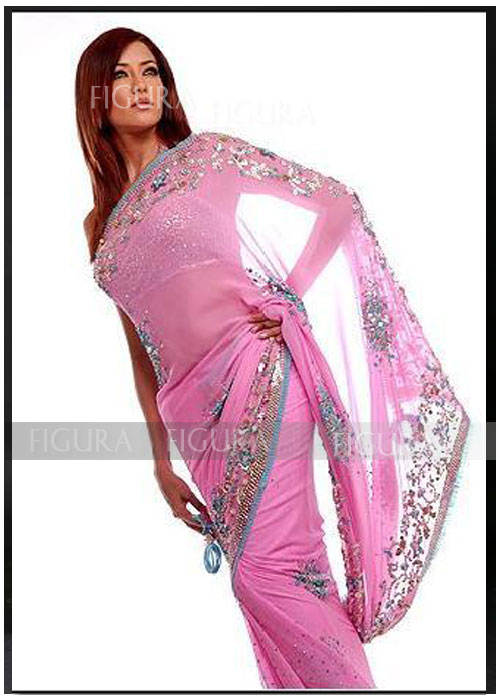 She fashion club indian sarees pink