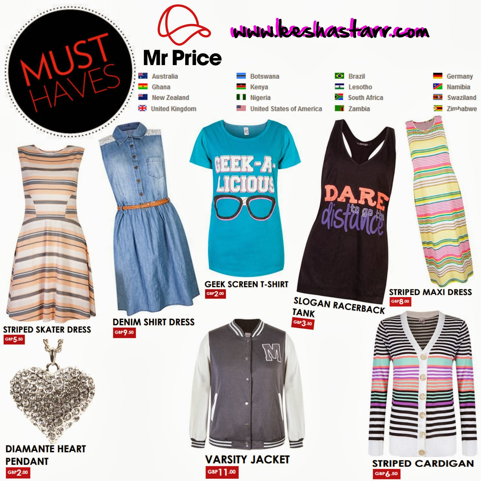 Mr price clothing online