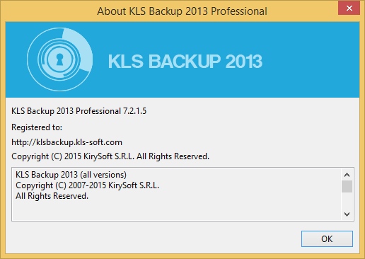 KLS Backup 2013 Professional v7.2.1.5