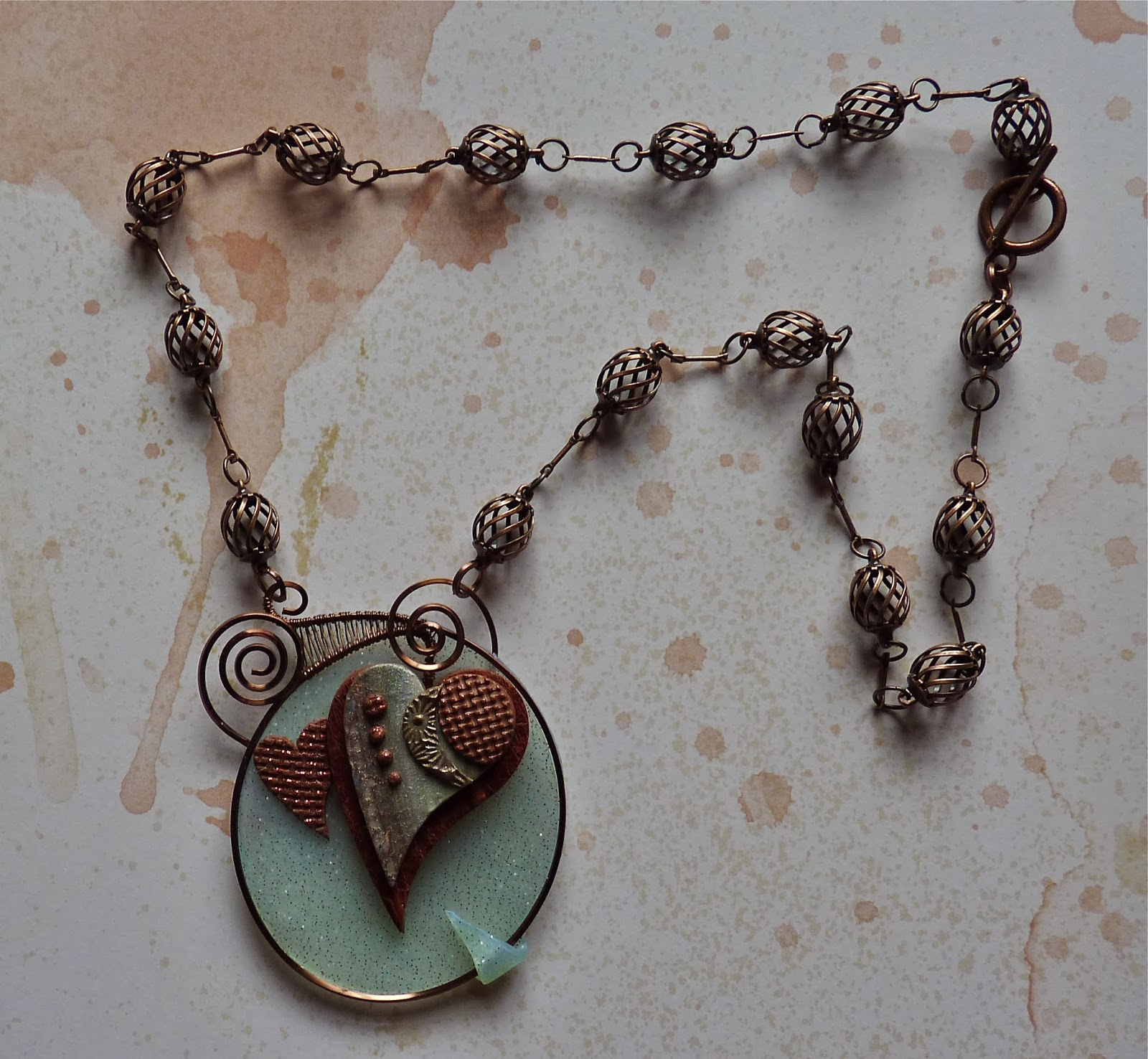 Knightwork: Playing with Clay: Mixed Media Polymer Clay & Wire Necklace