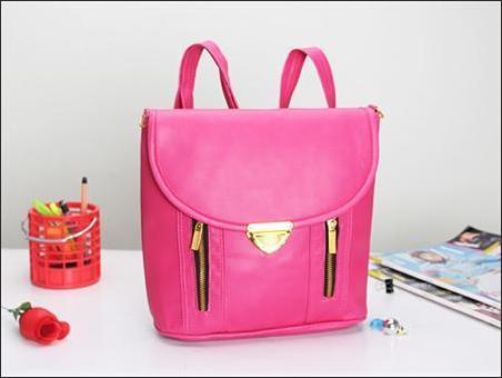 jual tas selempang bisa jadi ransel wanita korea murah pink - ransel mode