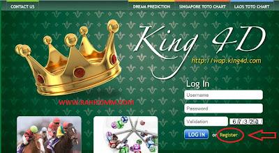 cara daftar king4d