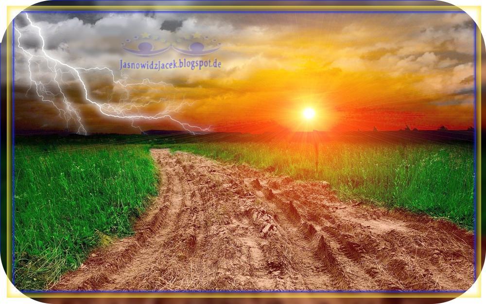 Piękny Zachód Słońca na Planecie Ziemi - Łąka Burza - Duchowy Uzdrowiciel Berlin
