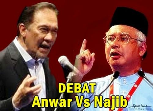 Najib wajar debat atau setuju digelar 'penakut'