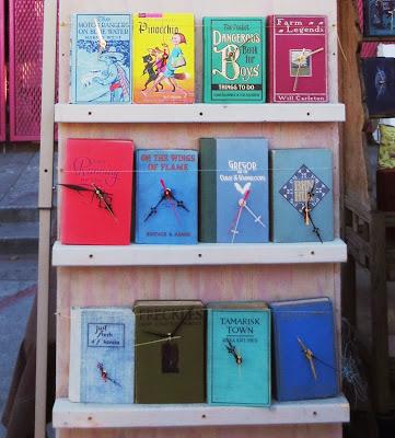 Old books turned into clocks