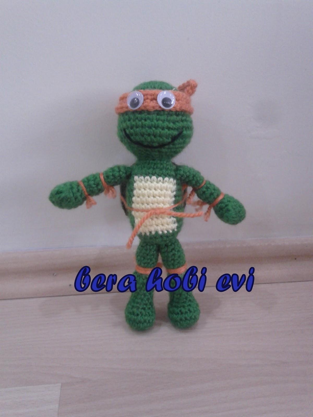 BERA HOB? EV?: amigurumi ninja kaplumbaga