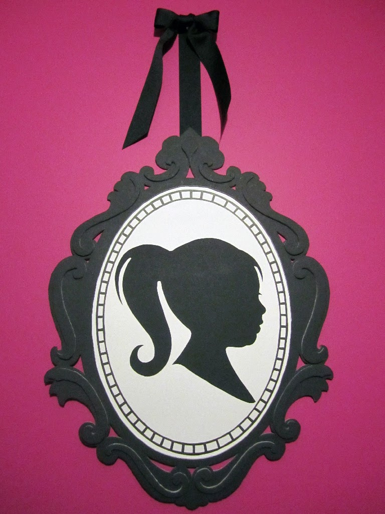 cameo made from foam board with a sihouette