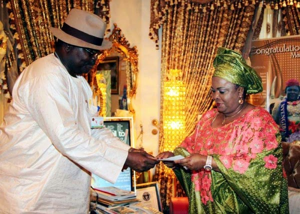 First lady got her national ID card in abuja