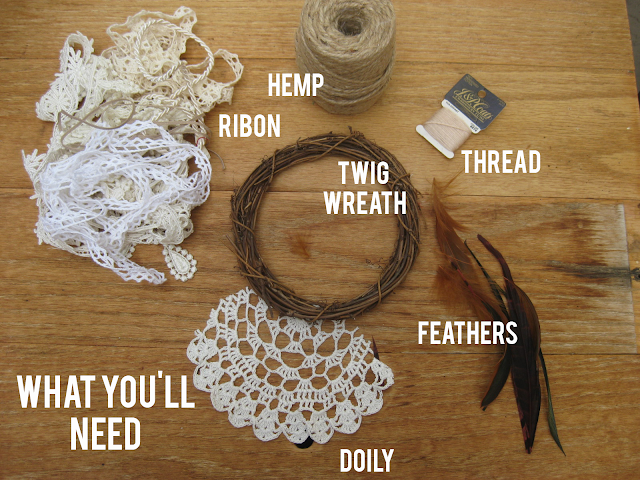 trimmed with lace diy crochet dreamcatcher