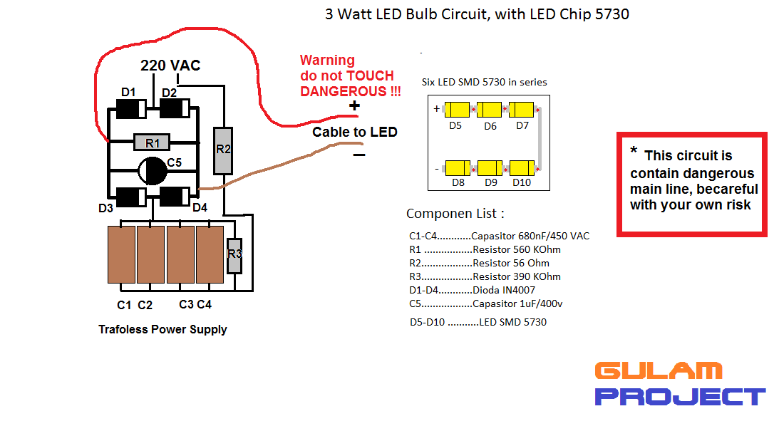 gulam project how to make led l at home with led smd 5730