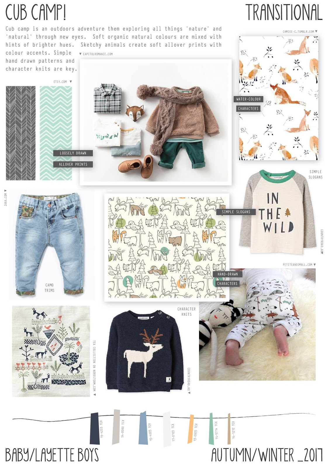 2017 aw fashion trend - Emily Kiddy Cub Camp Autumn Winter 2016 17 Baby