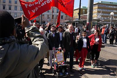 1 maj, Göteborg, första maj, demonstration, arrangemang, tal, talare, demonstrationståg, vänsterpartiet, Jonas Sjöstedt, järntorget