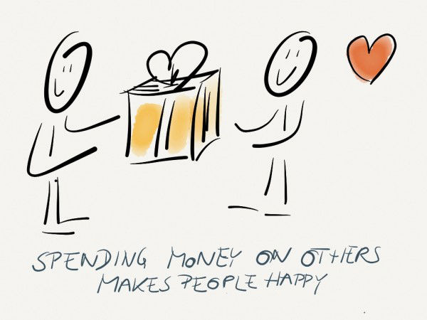 spending money on others provides more happiness than spending it on yourself