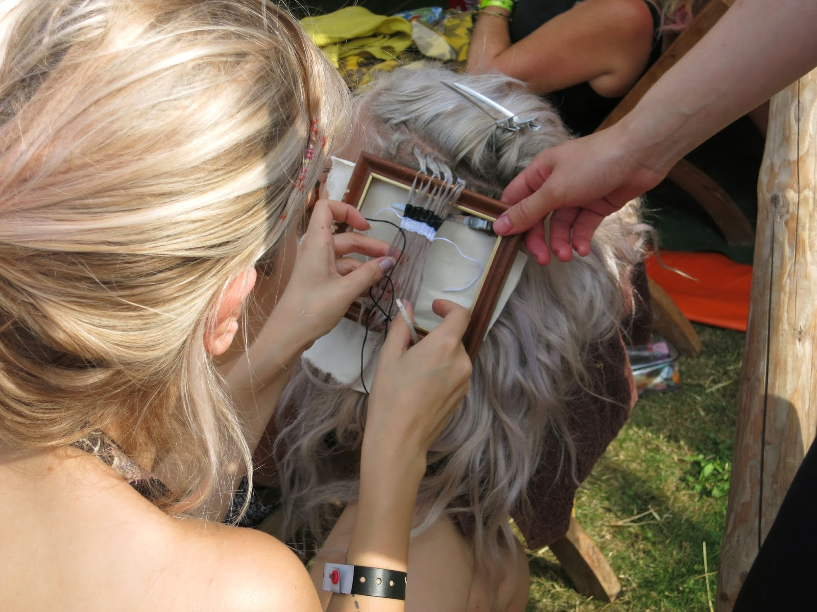 hair tapestry by bleach london at port eliot festival 2014