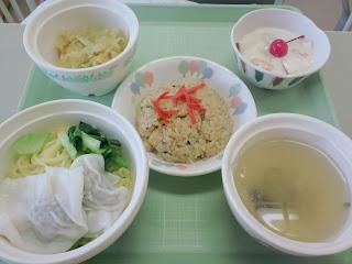 写真:パルス入院3クール5日目の昼食