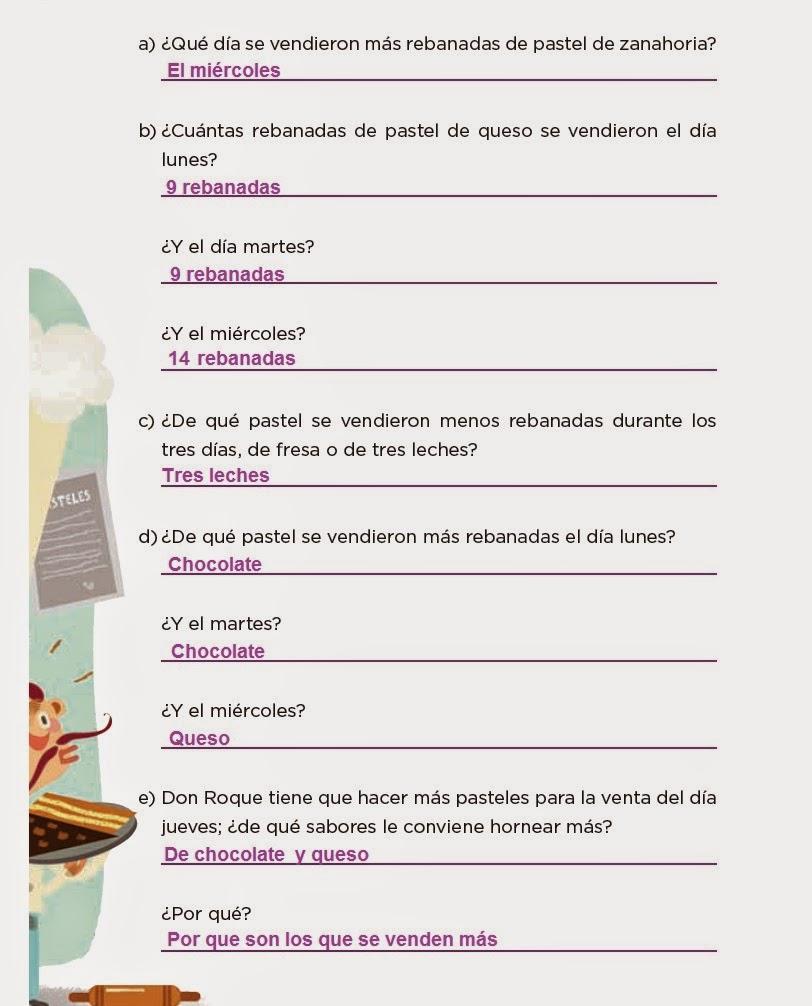 Respuestas ¡Pasteles, pasteles! - Desafios matemáticos 4to Bloque 5 2014-2015