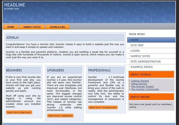Templates for joomla/b 1/b 7/b free 2 column joomla/b template suit