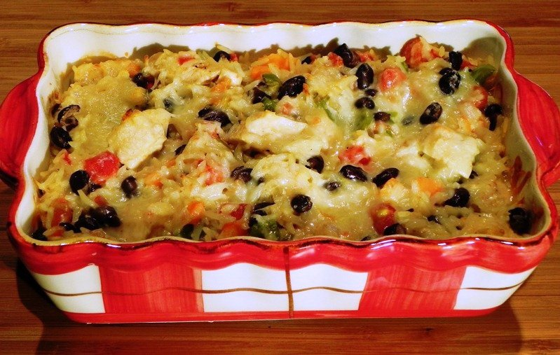 this is a delicious pretty and nutritious casserole it bakes while you ...