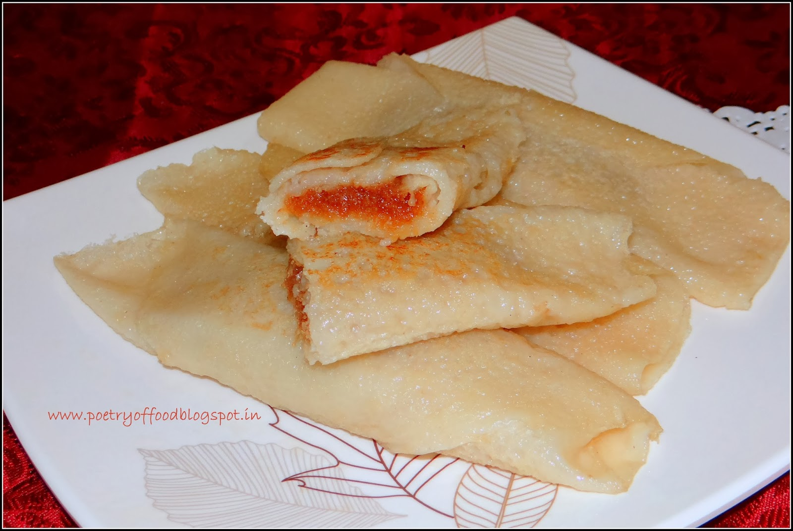 Of Food: Patishapta... A Crepe Filled With Sweet Coconut & Cardamom ...