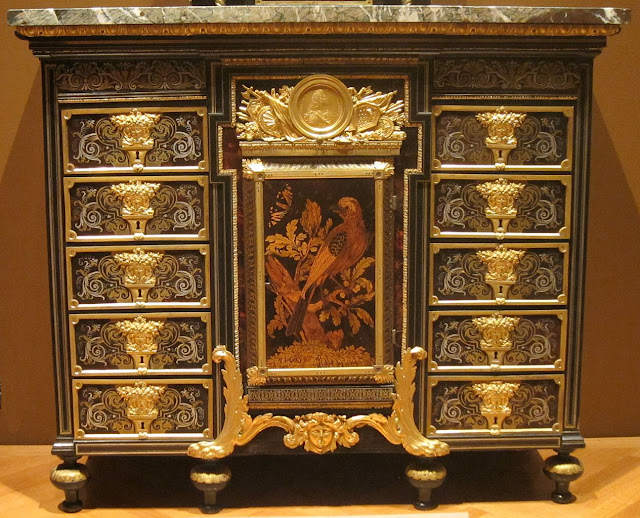 Cabinet, c. 1690, ebony, metal and tortoise shell, André-Charles Boulle, Cleveland Museum of Art