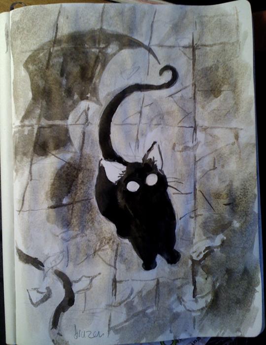 The Happy Undertaker Black Cat Ghost