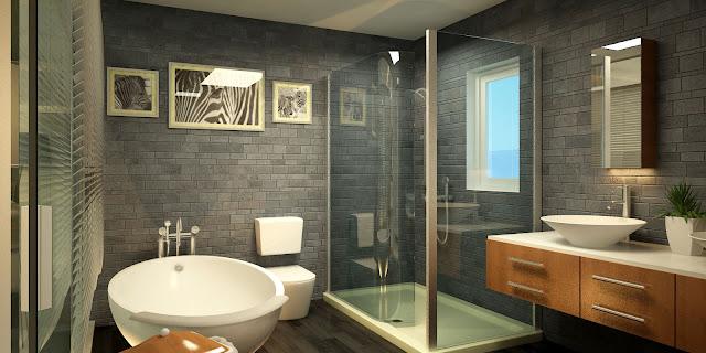 1 Góc trong nhà tắm của căn hộ Bungalow