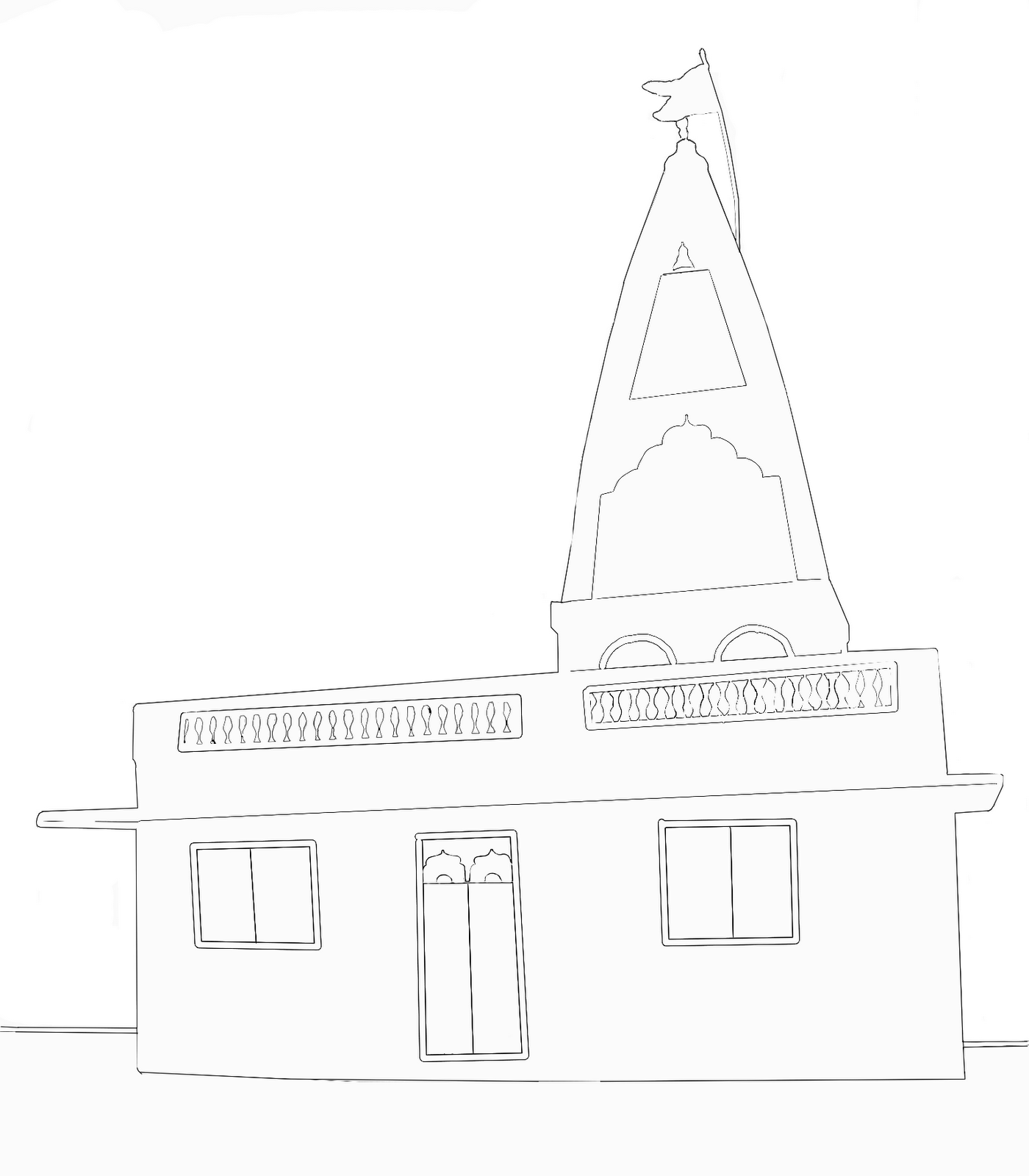 Stock Pictures Temple Outlines And Sketches