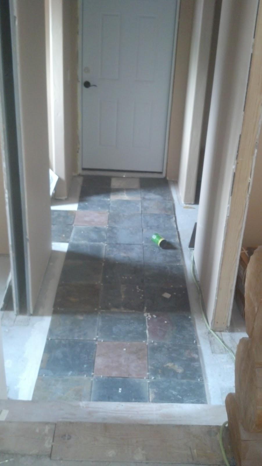 Stannard Log Home: Floor Tiles