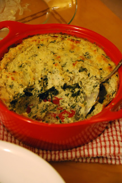 Hot Roasted Artichoke Dip With Spinach And Asiago Cheese With Herbed Pita Chips
