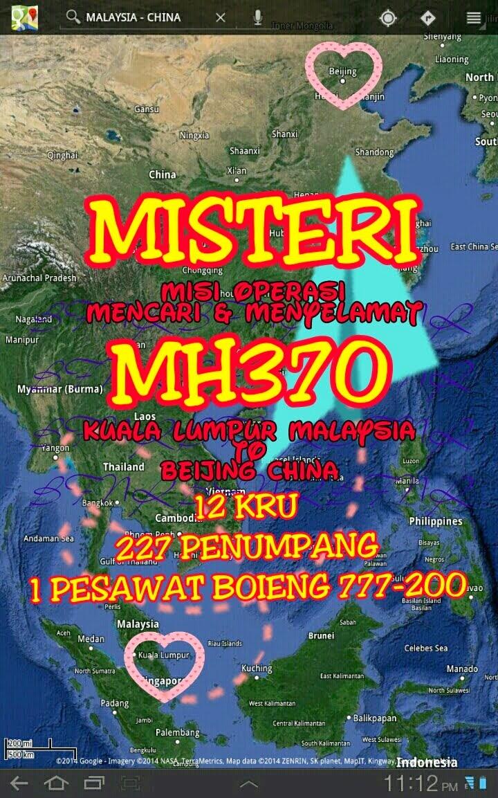 KUALA LUMPUR MALAYSIA TO BEIJING CHINA MH370 NO 2