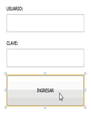 Doble clic en el botón ingresar de nuestro formulario Login