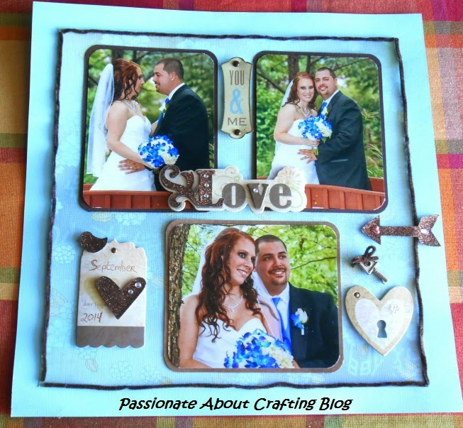Passionate About Crafting : Outdoor Wedding Scrapbooking Layout Idea