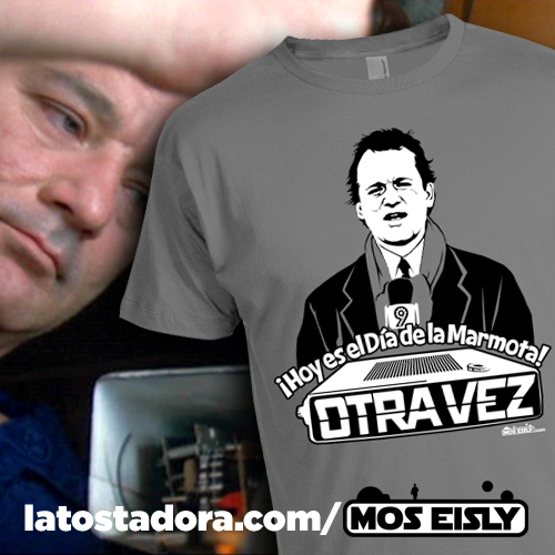 camiseta bill murray dia de la marmota