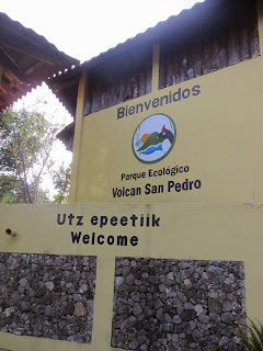 Visitors entrance to Volcan San Pedro by Lake Atitlan in Guatemala